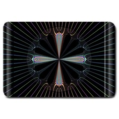 Fractal Rays Large Doormat  by Simbadda