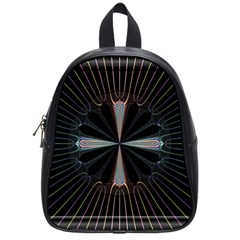 Fractal Rays School Bags (small)  by Simbadda
