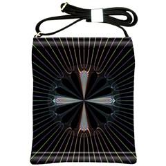Fractal Rays Shoulder Sling Bags by Simbadda
