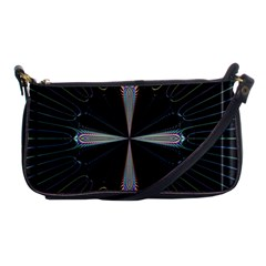 Fractal Rays Shoulder Clutch Bags by Simbadda