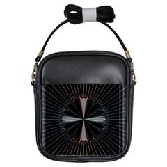 Fractal Rays Girls Sling Bags by Simbadda