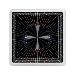 Fractal Rays Memory Card Reader (square)  by Simbadda