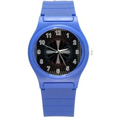 Fractal Rays Round Plastic Sport Watch (s) by Simbadda