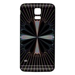 Fractal Rays Samsung Galaxy S5 Back Case (white) by Simbadda