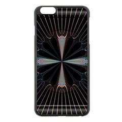 Fractal Rays Apple Iphone 6 Plus/6s Plus Black Enamel Case by Simbadda