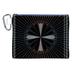 Fractal Rays Canvas Cosmetic Bag (xxl) by Simbadda