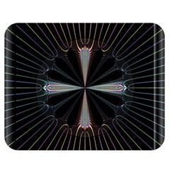 Fractal Rays Double Sided Flano Blanket (medium)  by Simbadda