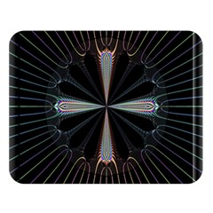 Fractal Rays Double Sided Flano Blanket (large)  by Simbadda