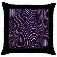 Abstract Colorful Spheres Throw Pillow Case (black) by Simbadda