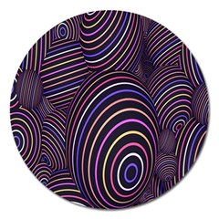 Abstract Colorful Spheres Magnet 5  (round) by Simbadda