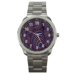 Abstract Colorful Spheres Sport Metal Watch by Simbadda