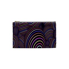 Abstract Colorful Spheres Cosmetic Bag (small)  by Simbadda