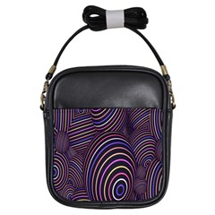 Abstract Colorful Spheres Girls Sling Bags by Simbadda