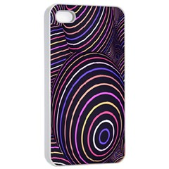 Abstract Colorful Spheres Apple Iphone 4/4s Seamless Case (white) by Simbadda