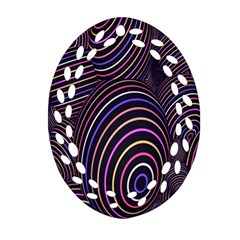 Abstract Colorful Spheres Oval Filigree Ornament (two Sides) by Simbadda