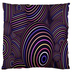 Abstract Colorful Spheres Large Cushion Case (two Sides) by Simbadda