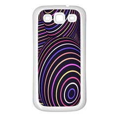 Abstract Colorful Spheres Samsung Galaxy S3 Back Case (white) by Simbadda