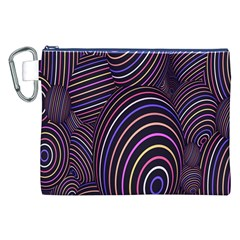 Abstract Colorful Spheres Canvas Cosmetic Bag (xxl) by Simbadda