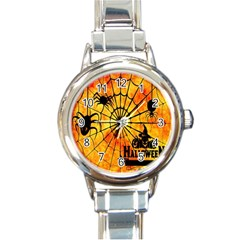 Halloween Weird  Surreal Atmosphere Round Italian Charm Watch by Simbadda
