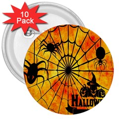 Halloween Weird  Surreal Atmosphere 3  Buttons (10 Pack)  by Simbadda