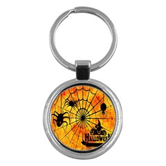 Halloween Weird  Surreal Atmosphere Key Chains (round)  by Simbadda