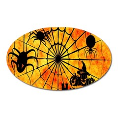 Halloween Weird  Surreal Atmosphere Oval Magnet by Simbadda