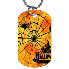 Halloween Weird  Surreal Atmosphere Dog Tag (two Sides) by Simbadda