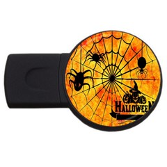 Halloween Weird  Surreal Atmosphere Usb Flash Drive Round (2 Gb) by Simbadda