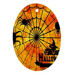 Halloween Weird  Surreal Atmosphere Oval Ornament (two Sides) by Simbadda