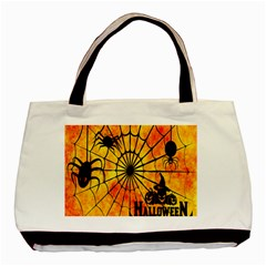 Halloween Weird  Surreal Atmosphere Basic Tote Bag (two Sides) by Simbadda