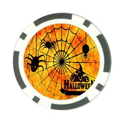 Halloween Weird  Surreal Atmosphere Poker Chip Card Guard (10 Pack) by Simbadda