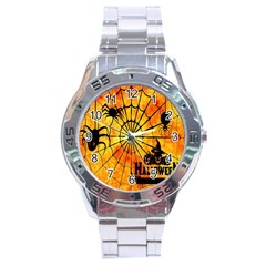 Halloween Weird  Surreal Atmosphere Stainless Steel Analogue Watch by Simbadda