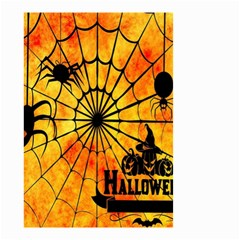 Halloween Weird  Surreal Atmosphere Small Garden Flag (two Sides) by Simbadda