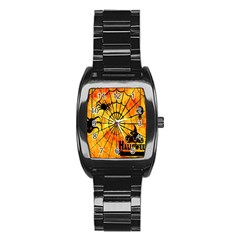 Halloween Weird  Surreal Atmosphere Stainless Steel Barrel Watch by Simbadda