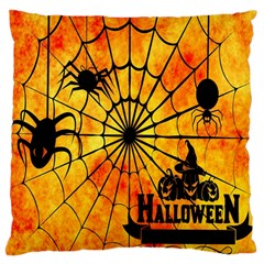 Halloween Weird  Surreal Atmosphere Large Flano Cushion Case (two Sides) by Simbadda