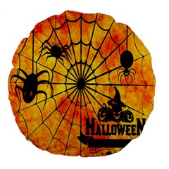 Halloween Weird  Surreal Atmosphere Large 18  Premium Flano Round Cushions by Simbadda
