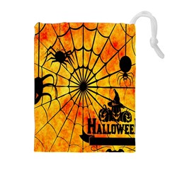 Halloween Weird  Surreal Atmosphere Drawstring Pouches (extra Large) by Simbadda