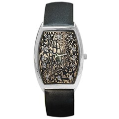 Wallpaper Texture Pattern Design Ornate Abstract Barrel Style Metal Watch by Simbadda