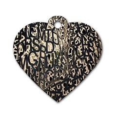 Wallpaper Texture Pattern Design Ornate Abstract Dog Tag Heart (one Side) by Simbadda
