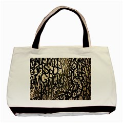 Wallpaper Texture Pattern Design Ornate Abstract Basic Tote Bag (two Sides) by Simbadda
