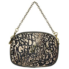 Wallpaper Texture Pattern Design Ornate Abstract Chain Purses (two Sides)  by Simbadda