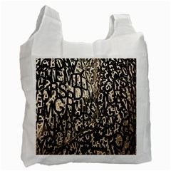 Wallpaper Texture Pattern Design Ornate Abstract Recycle Bag (two Side)  by Simbadda