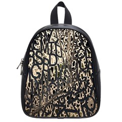 Wallpaper Texture Pattern Design Ornate Abstract School Bags (small)  by Simbadda