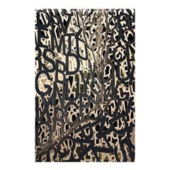 Wallpaper Texture Pattern Design Ornate Abstract Shower Curtain 48  X 72  (small)  by Simbadda