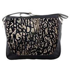 Wallpaper Texture Pattern Design Ornate Abstract Messenger Bags by Simbadda