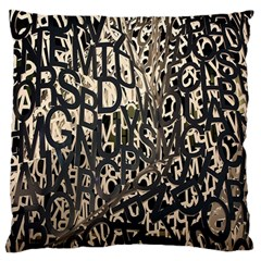 Wallpaper Texture Pattern Design Ornate Abstract Large Cushion Case (one Side) by Simbadda