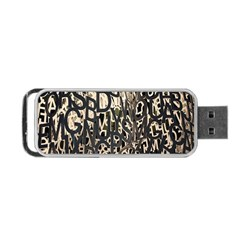 Wallpaper Texture Pattern Design Ornate Abstract Portable Usb Flash (two Sides) by Simbadda