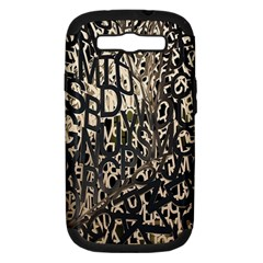 Wallpaper Texture Pattern Design Ornate Abstract Samsung Galaxy S Iii Hardshell Case (pc+silicone) by Simbadda