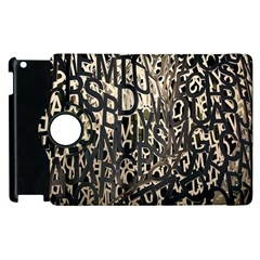 Wallpaper Texture Pattern Design Ornate Abstract Apple Ipad 3/4 Flip 360 Case by Simbadda