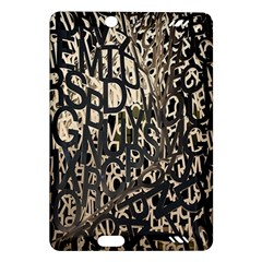 Wallpaper Texture Pattern Design Ornate Abstract Amazon Kindle Fire Hd (2013) Hardshell Case by Simbadda